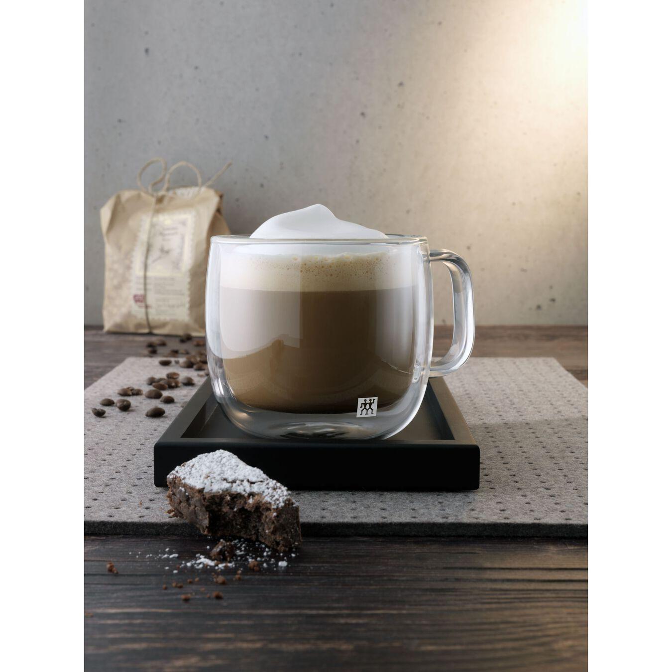 Set di bicchieri da cappuccino - 2-pz., vetro borosilicato,,large 3