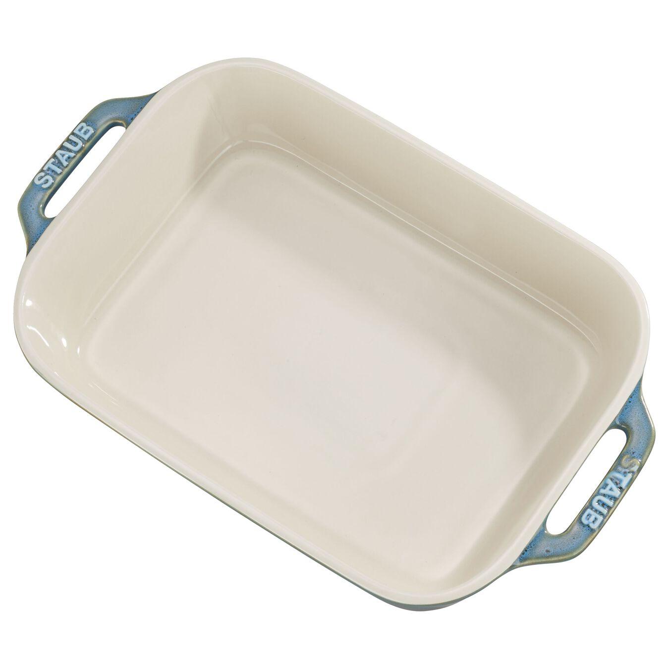 10.5-inch x 7.5-inch Rectangular Baking Dish - Rustic Turquoise,,large 1