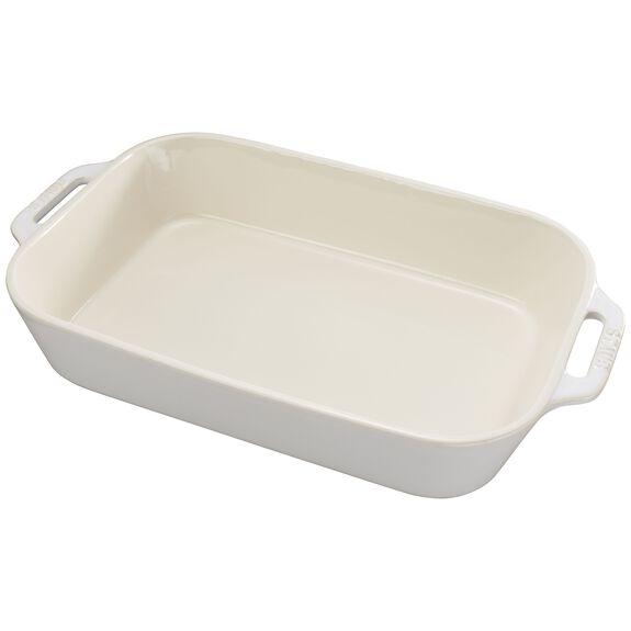 13-inch x 9-inch Rectangular Baking Dish - White,,large