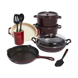 Staub Cast Iron - Sets, 12-pc, Mixed set, grenadine