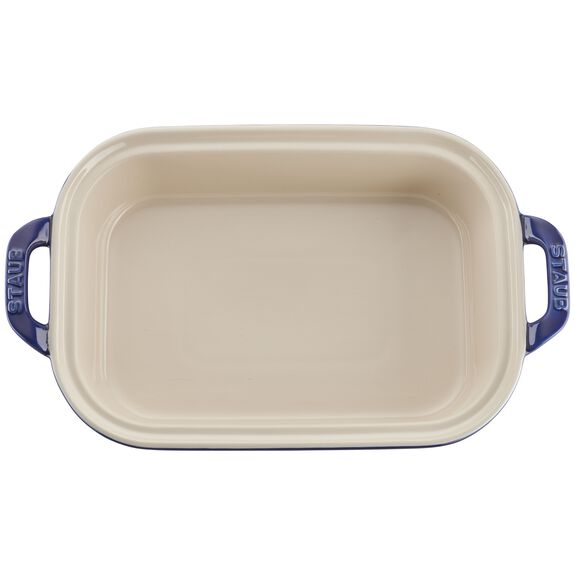 12-inch x 8-inch Rectangular Covered Baking Dish - Dark Blue,,large 5