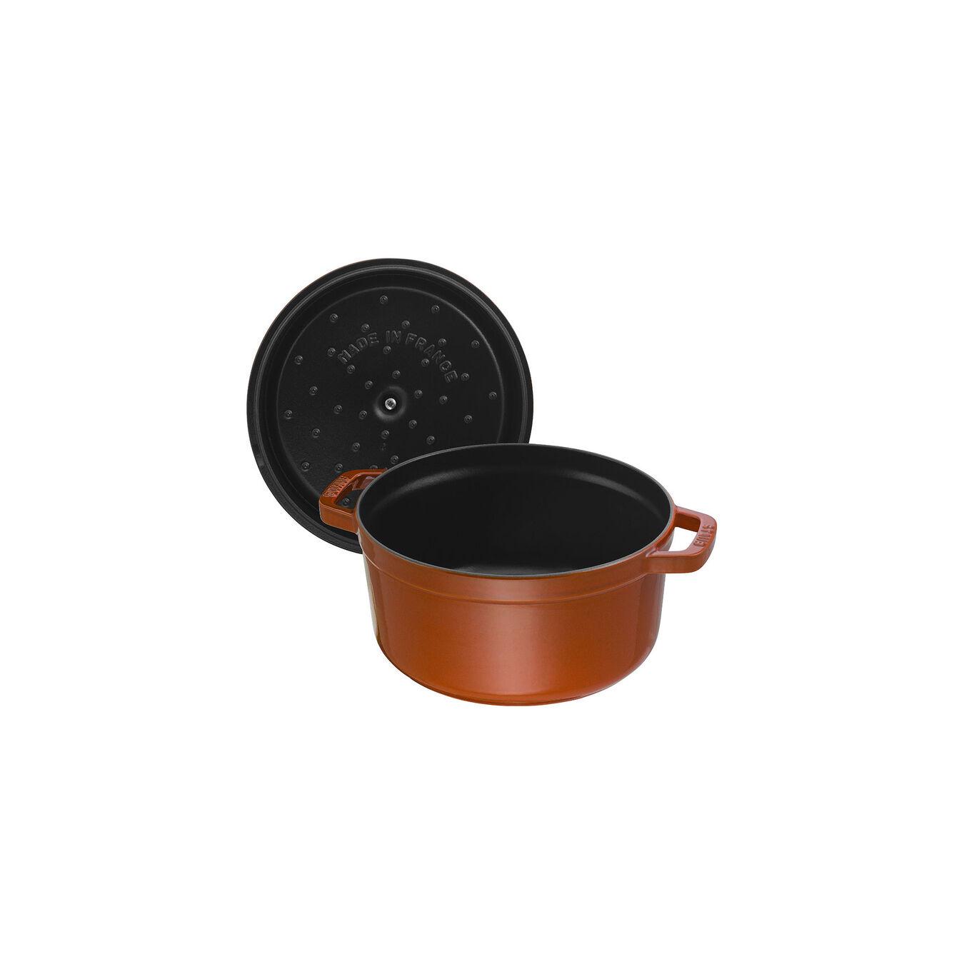 2.75-qt Round Cocotte - Burnt Orange,,large 4