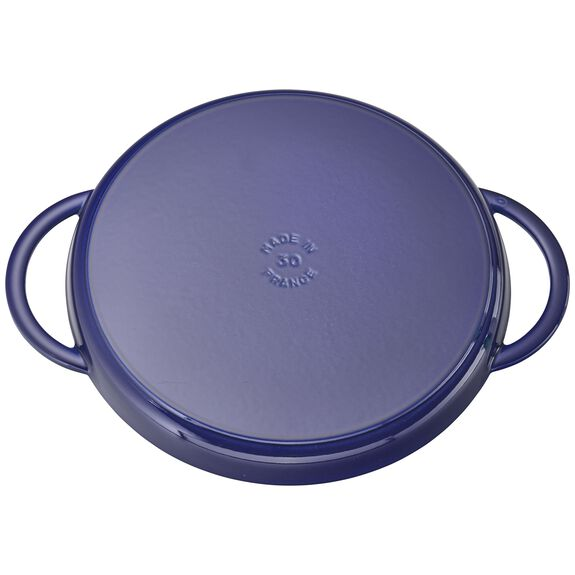 12-inch Chicken al Mattone Griddle & Press Set - Dark Blue,,large 2