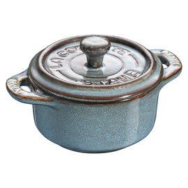 Staub Ceramique, Mini Cocotte 10 cm, redondo, Turquesa antigo, Cerâmica