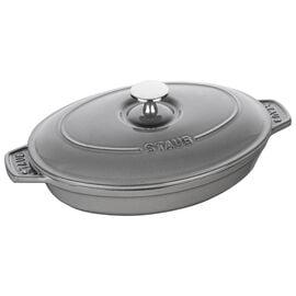 Staub Specialities, Pirofila con coperchio ovale - 23 cm x 17 cm, grigio grafite