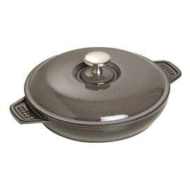 Staub Cast Iron, 7.9-inch Round Covered Baking Dish - Graphite Grey