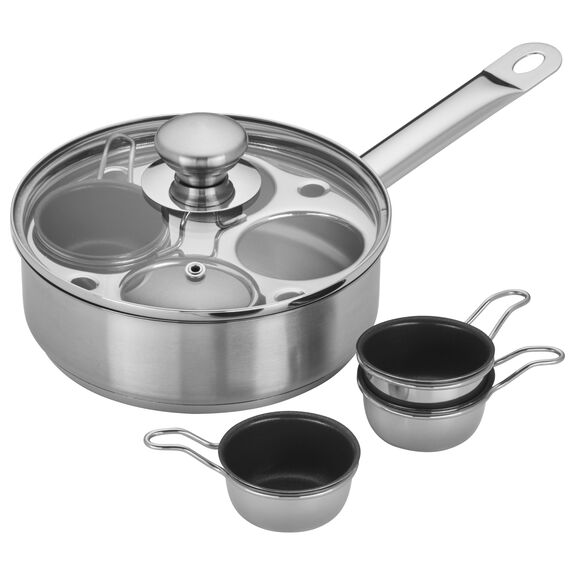 4-cup Stainless Steel Egg Poacher Set,,large