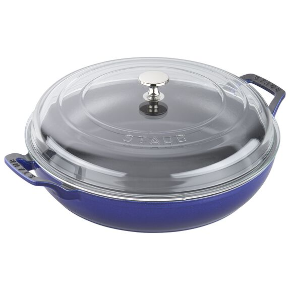 3.5-qt Braiser with Glass Lid - Dark Blue,,large