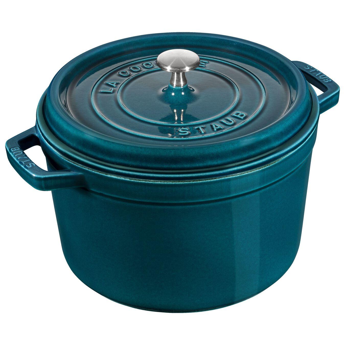 Cocotte 24 cm, Rond(e), Blue La-Mer, Fonte,,large 1