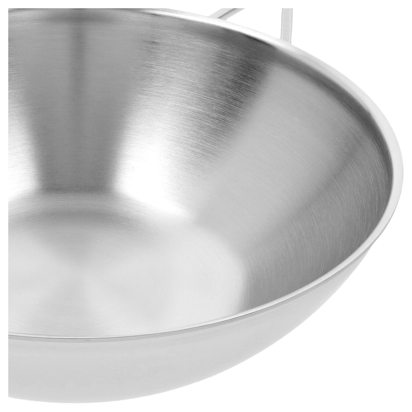 5 qt, 18/10 Stainless Steel, Flat Bottom Wok, silver,,large 3