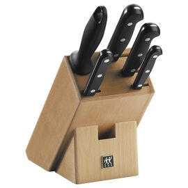 ZWILLING TWIN Gourmet, Messerblock 6-tlg, Holz