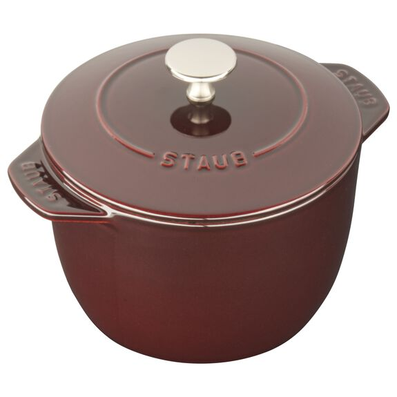 16-cm-/-6.5-inch round Cast iron Rice Cocotte, Grenadine-Red,,large 2