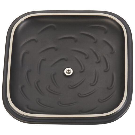 """9"""" x 9"""" Square Covered Baking Dish, Black Matte, , large 4"""