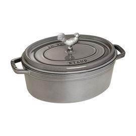 Staub Cast Iron, 4.25-qt Coq au Vin Cocotte - Graphite Grey