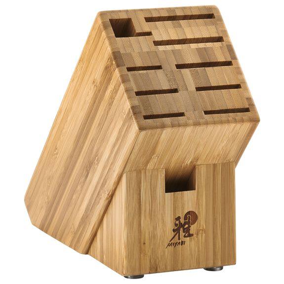 Knife block empty Bamboo,,large