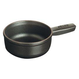 Staub Cast Iron, 4.5-inch round Fondue pot, Black