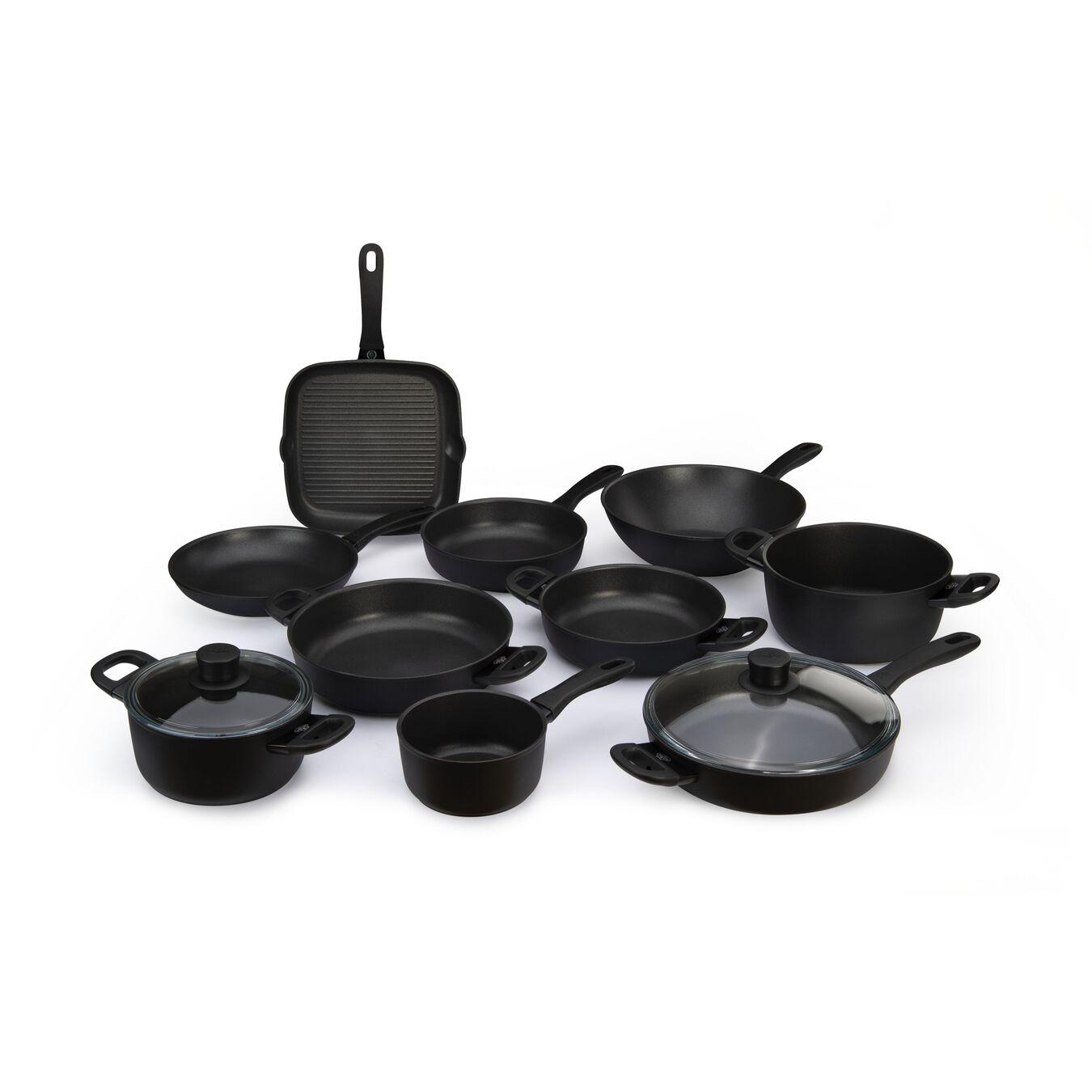 2-pc, aluminium, Non-stick, Frying pan set,,large 1