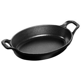 Staub Cast iron,  Cast iron oval Oven dish, black