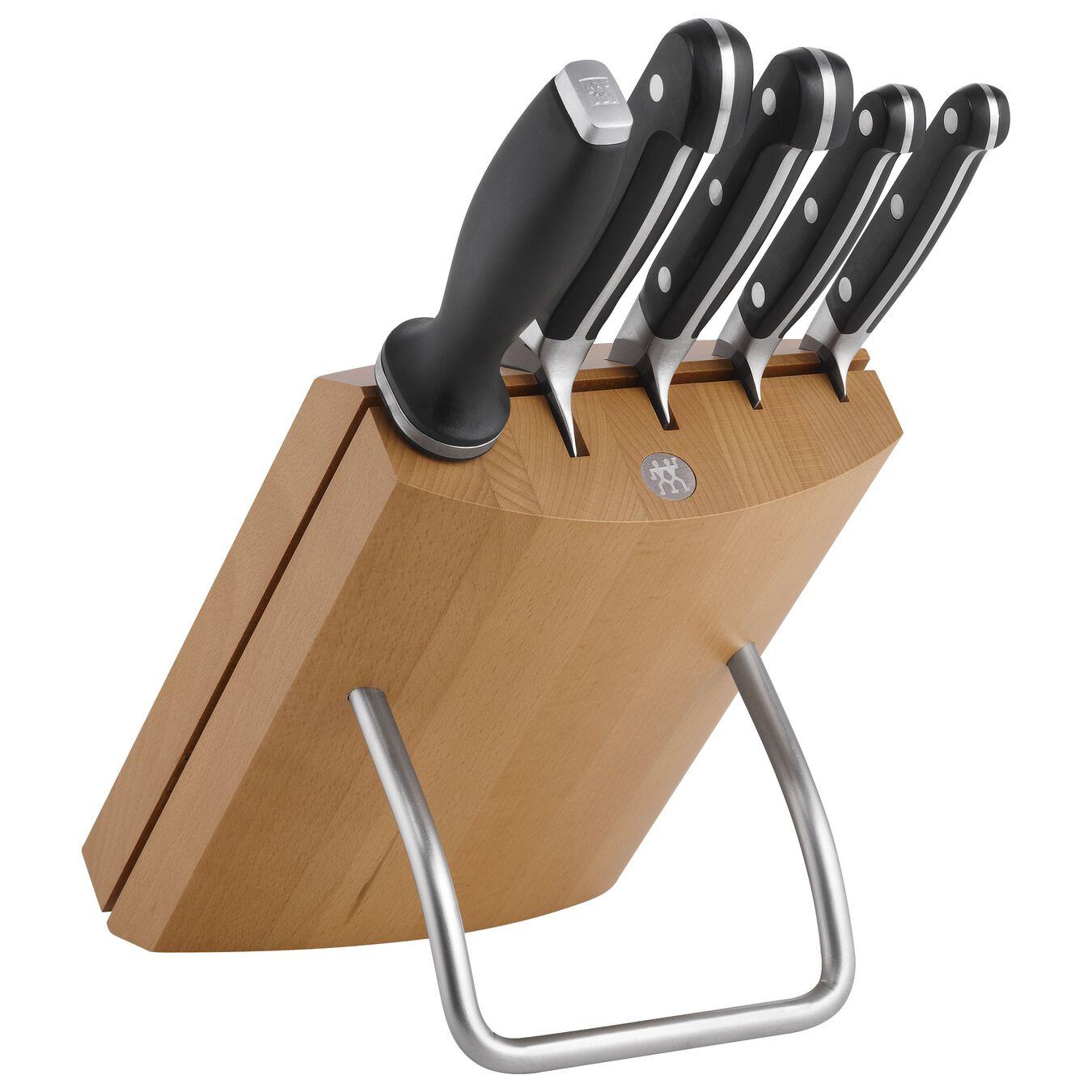 Bloc de couteaux 6-pcs, Hêtre,,large 1