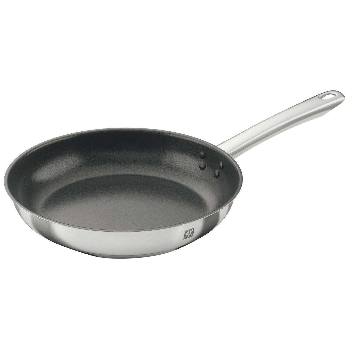 Poêle 26 cm, Inox 18/10, Silver-Black,,large 1