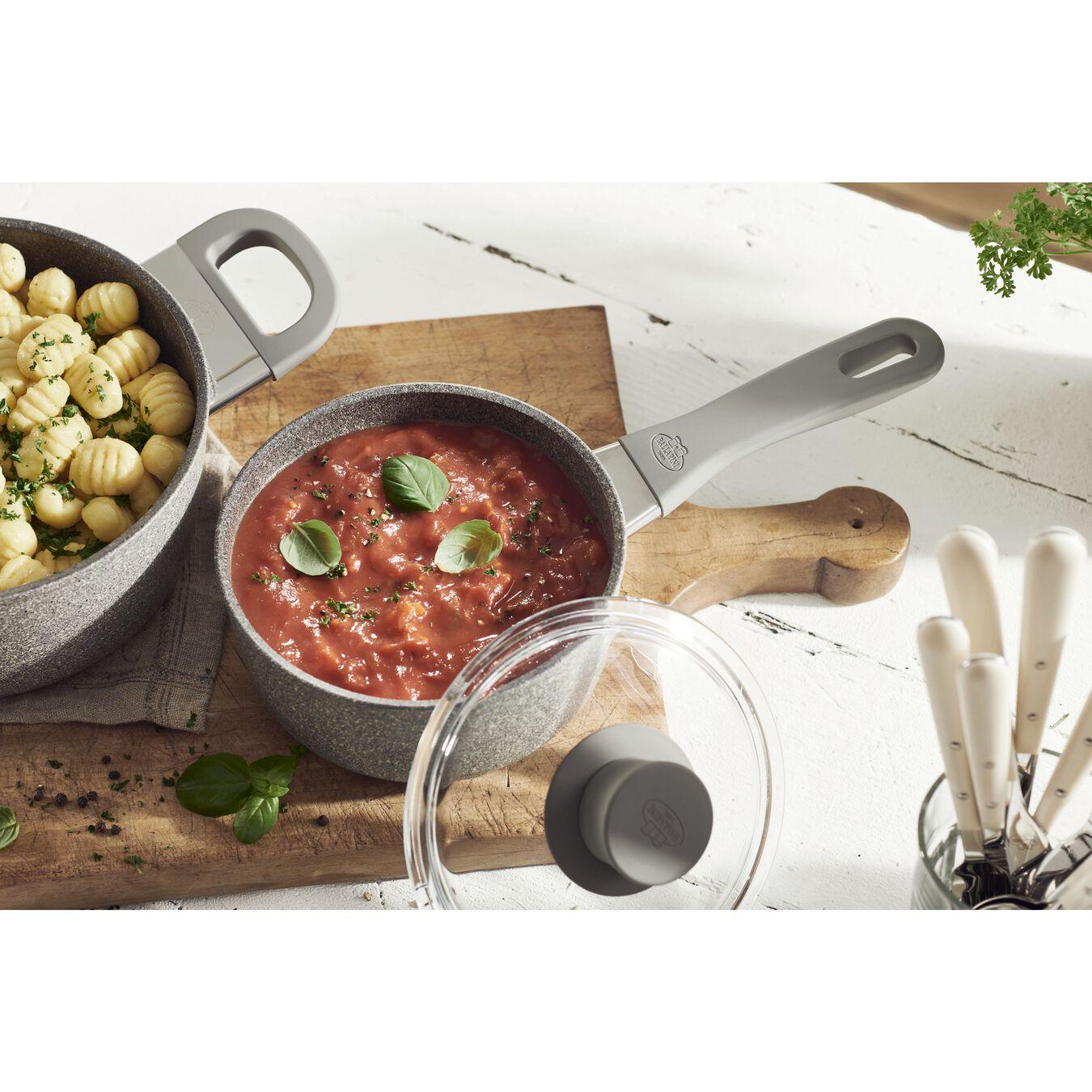 round Sauce pan, stone grey,,large 5