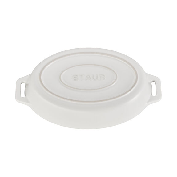 9-inch Oval Baking Dish - Matte White,,large 4