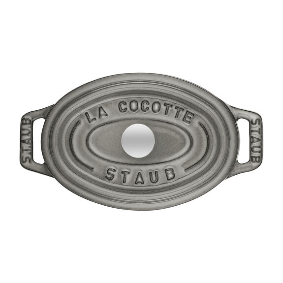 11-cm-/-4.25-inch oval Mini Cocotte, Graphite-Grey,,large 2