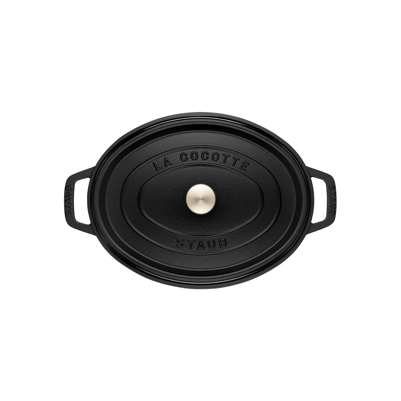 Cocotte 23 cm, Ovale, Noir, Fonte,,large 2