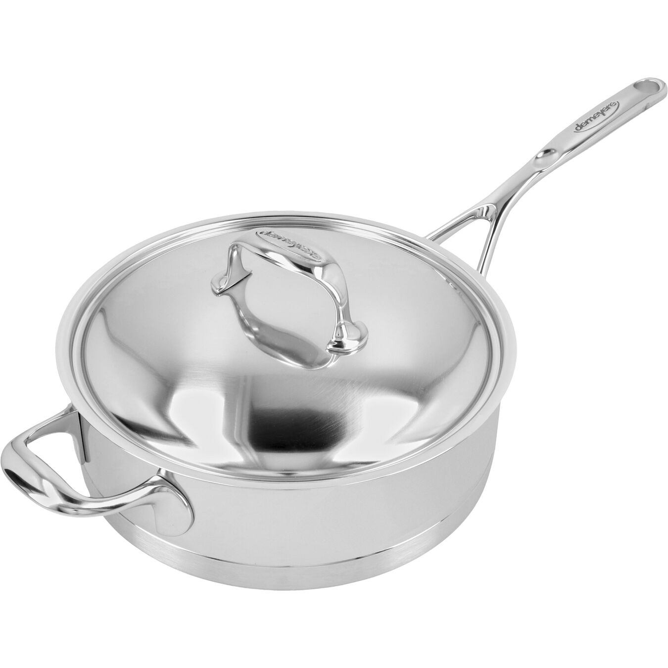 9.5-inch Sauté Pan with Helper Handle and Lid, 18/10 Stainless Steel ,,large 3