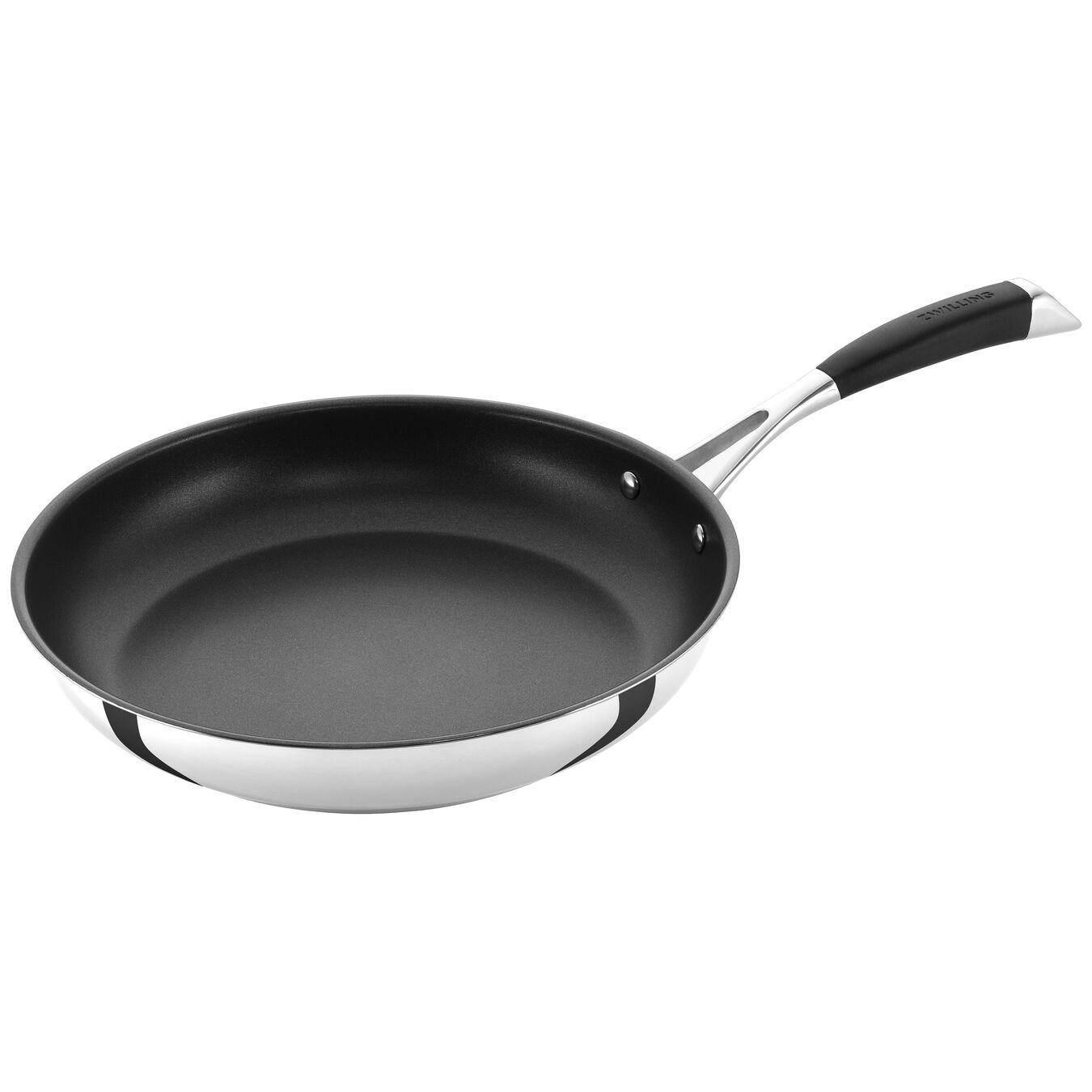 Poêle 28 cm, Acier inoxydable, Noir argenté,,large 4