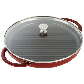 Staub Cast Iron, 10-inch Enamel Grill pan with glass lid