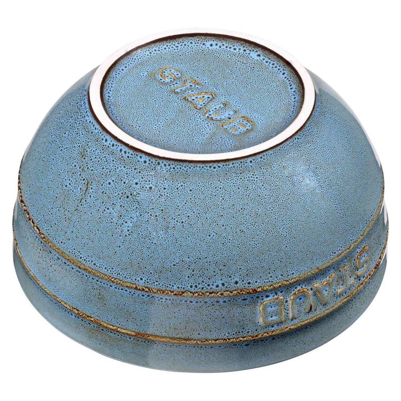 Bol 12 cm, Céramique, Turquoise antique,,large 2