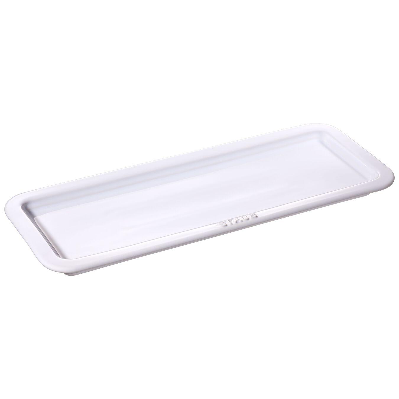 Piatto da servizio rettangolare - 36 cm x 14 cm, bianco puro,,large 1