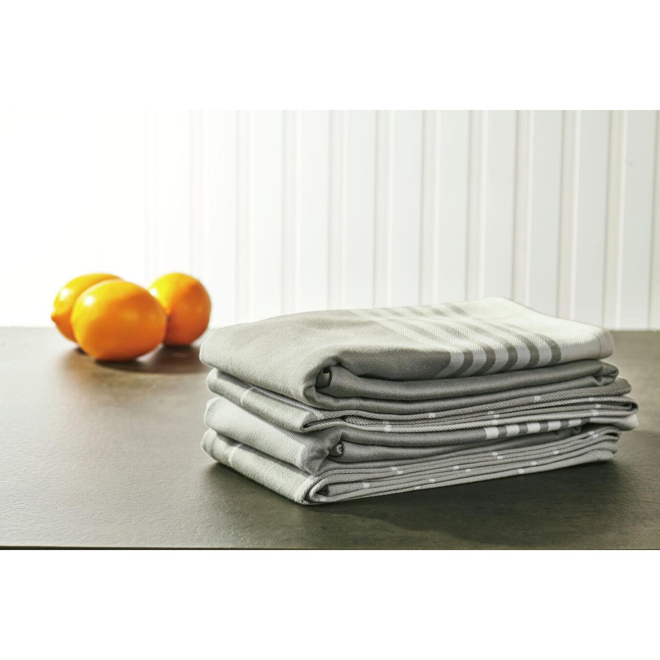 Kitchen towel, grey,,large 4
