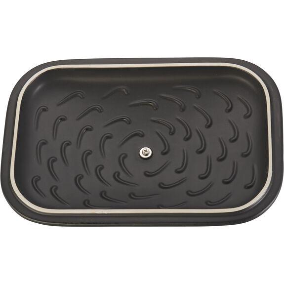 """12"""" x 8"""" Rectangular Covered Baking Dish, Black Matte, , large 5"""
