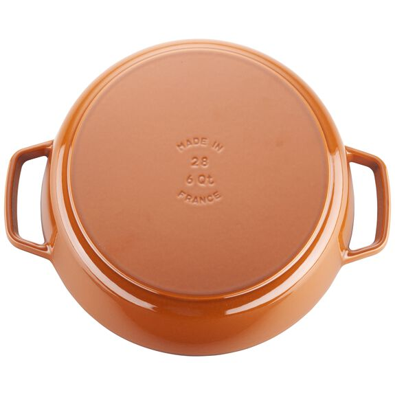 6.25-qt round Cocotte, Orange,,large 5