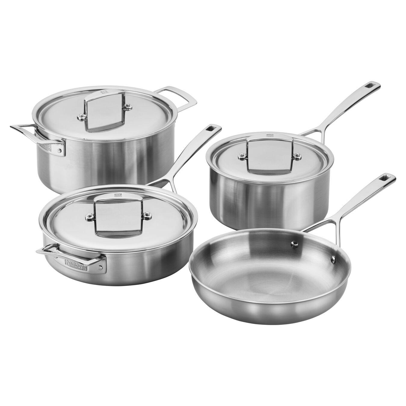 7-pcs 18/10 Stainless Steel Ensemble de casseroles et poêles,,large 1