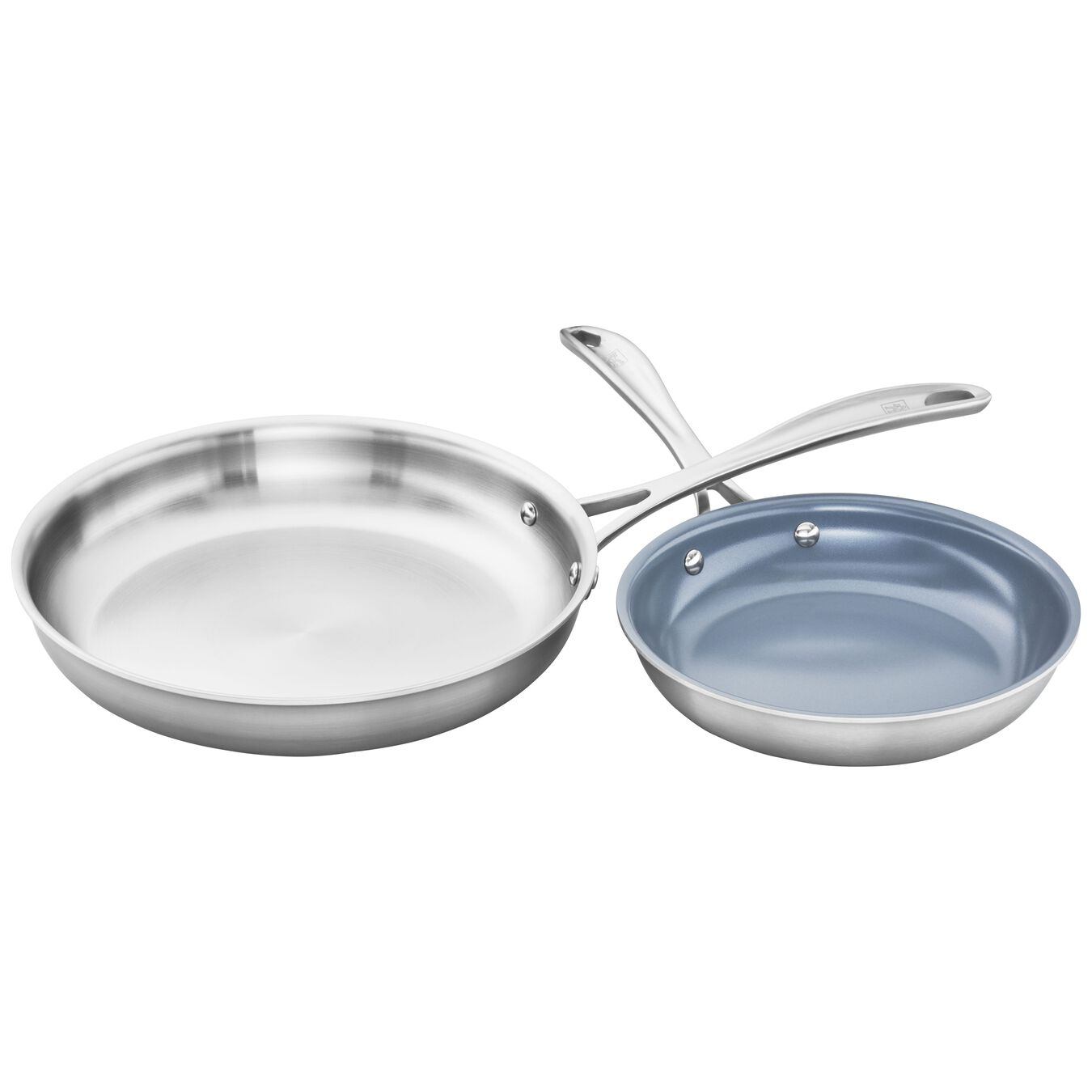 2-pc, 18/10 Stainless Steel, Non-stick, Frying pan set,,large 7