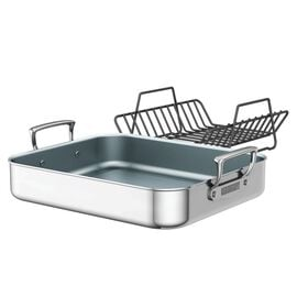 ZWILLING Gourmet Specialties, Polished Stainless Steel Ceramic Nonstick Roasting Pan