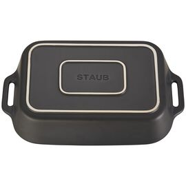 Staub Ceramics, 13-inch x 9-inch Rectangular Baking Dish - Matte Black