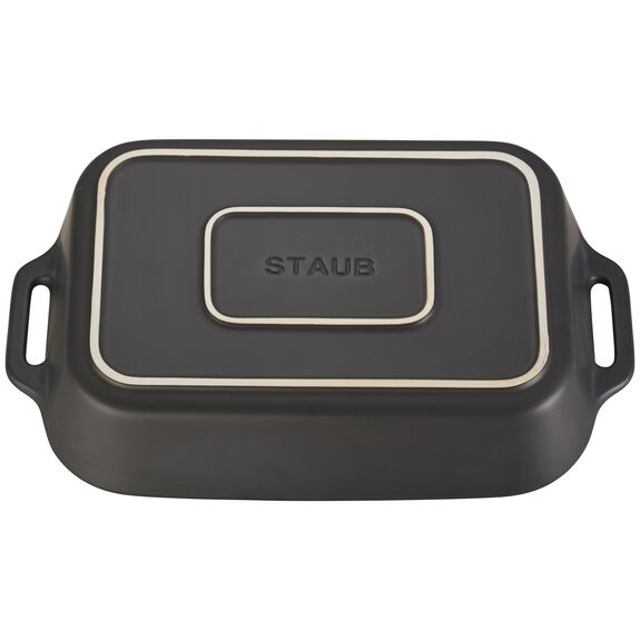 13-inch x 9-inch Rectangular Baking Dish - Matte Black,,large