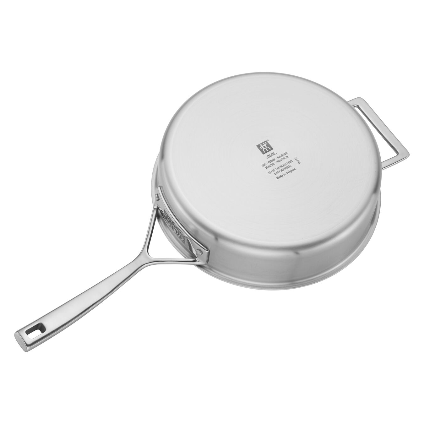 24 cm 18/10 Stainless Steel Saute pan with lid,,large 4