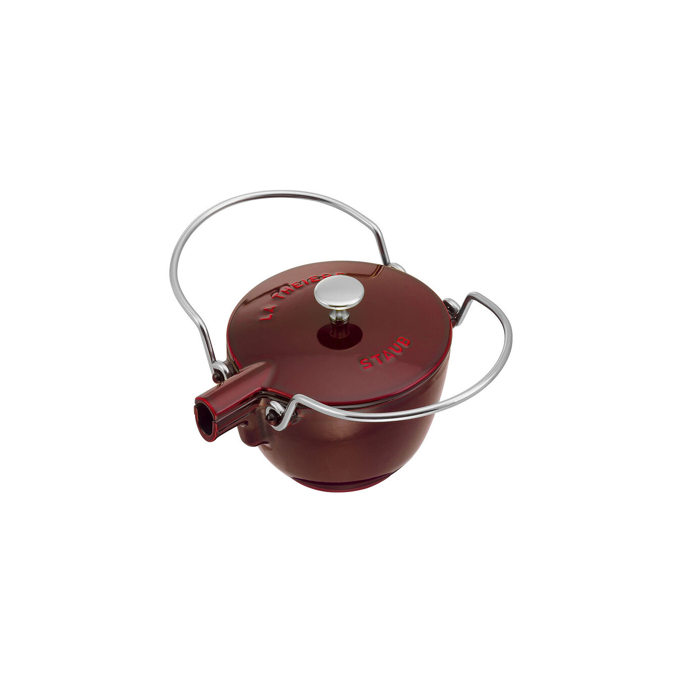 1-qt Round Tea Kettle - Grenadine,,large 2
