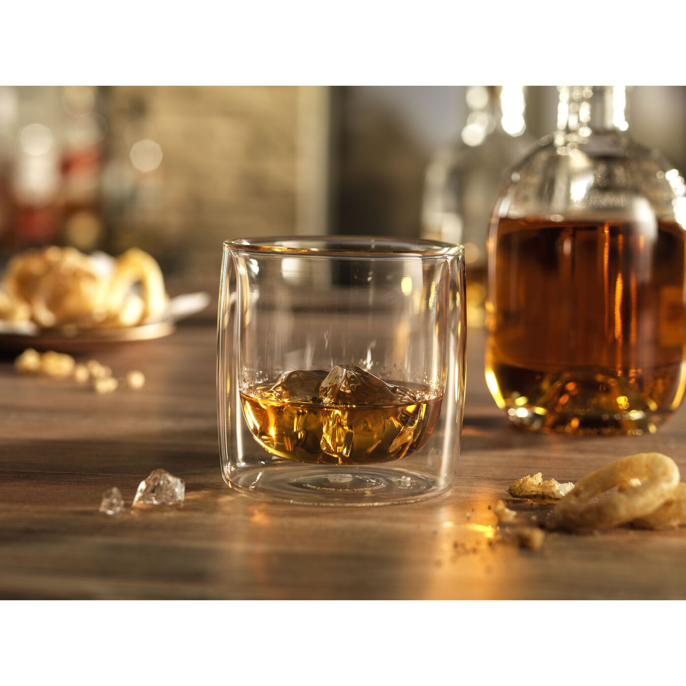 2-pc Whisky glass set, Double wall glas ,,large 3