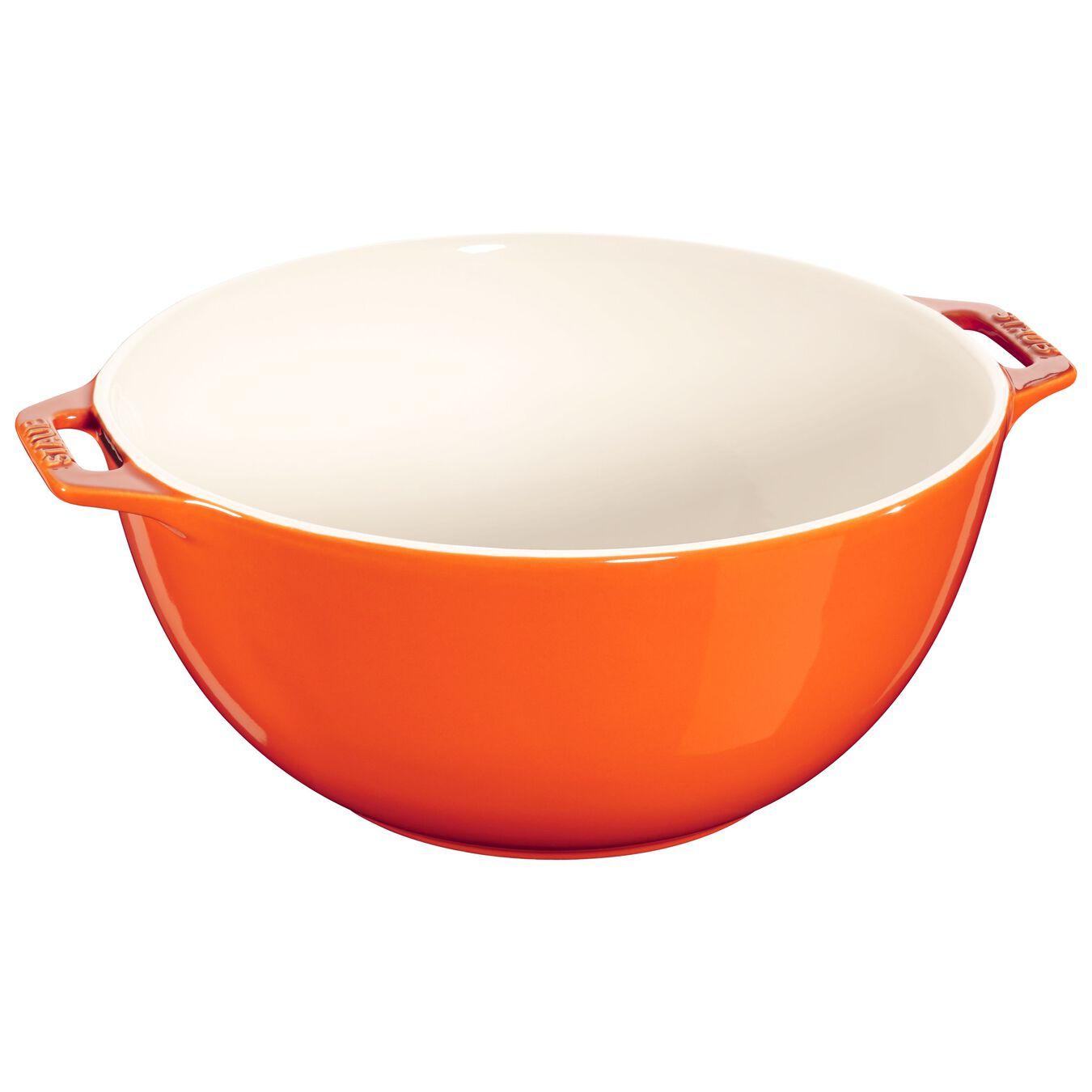 Bol 25 cm, Orange, Céramique,,large 1