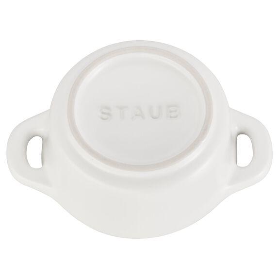3-pc Mini Round Cocotte Set - Matte White,,large 4