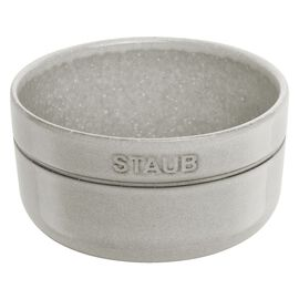 Staub Dining Line, 4 Piece Ceramic round Bowl set, White Truffle