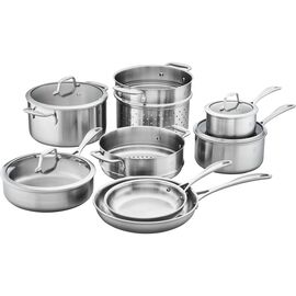 ZWILLING Spirit Stainless, 3-ply 12-pc Stainless Steel Cookware Set