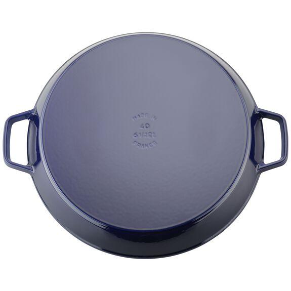 15.75-inch round Enamel Paella pan, Dark Blue,,large 3