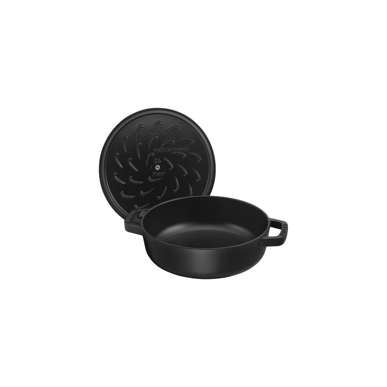 3,75 l Cast iron round Sauteuse Chistera, black,,large 2